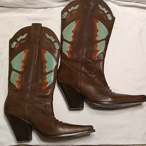 Diba leather cowgirl boots